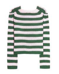 Marni - Green Striped Cashmere Sweater - Lyst