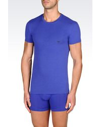 Emporio Armani | Blue Undershirt for Men | Lyst