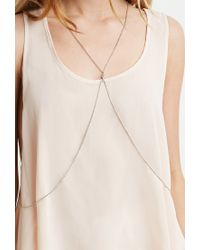 Forever 21 - Metallic Rhinestone Body Chain - Lyst