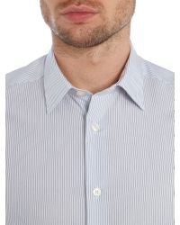 Paul Smith | Blue The Byard Stripe Slim Fit Long Sleeve Shirt for Men | Lyst