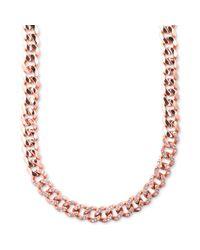 Givenchy - Pink Rose Goldtone Swarovski Silk Crystal Curb Link Necklace - Lyst