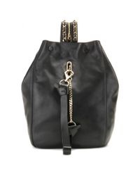Jimmy Choo | Black Echo Leather Backpack | Lyst