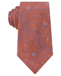 Michael Kors | Orange Michael Aquarius Paisley Tie for Men | Lyst