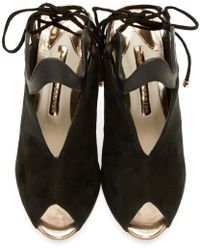 Sophia Webster | Black And Rose Gold Mila Peep Toe Heels | Lyst