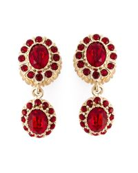 Givenchy | Red Dropped Gemstone Earrings | Lyst