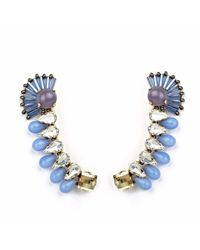 Tataborello | Blue Crystal Ear Cuffs | Lyst