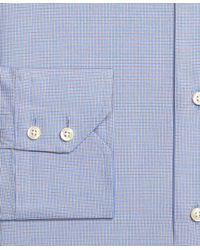 Brooks Brothers - Blue Extra-slim Fit Mini Check Dress Shirt for Men - Lyst