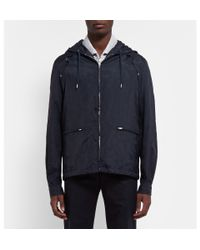 Chalayan - Blue Hooded Perforated Jacket for Men - Lyst