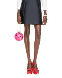 kate spade new york | Pink Dot Ornament Clutch | Lyst