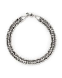 Philippe Audibert | White 'roselynette' Crystal Collar Necklace | Lyst