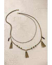 Anthropologie | Metallic Deva Tasselled Necklace | Lyst