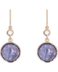 Irene Neuwirth - Purple Diamond & Tanzanite Double-Drop Earrings - Lyst