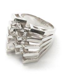 Noir Jewelry - Metallic Janice Mountain Peaks Ring - Lyst