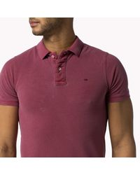 Tommy Hilfiger | Red Pilot Flag Plain Polo Slim Fit Polo Shirt for Men | Lyst