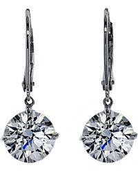 Carat* | Metallic Euroback 2ct Round Drop Earrings | Lyst