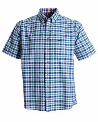 Double Two | Green Check Classic Fit Button Down Shirt for Men | Lyst