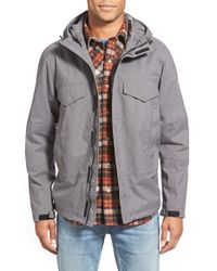 Timberland | Gray 'mt. Oscar' Waterproof Hooded Shell Jacket for Men | Lyst