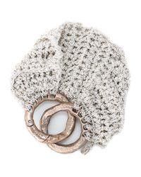 Arielle De Pinto   Metallic Ribbed Bracelet In Silver   Lyst