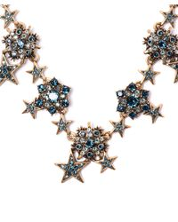 Oscar de la Renta - Green Swarovski Crystal Star Necklace - Lyst