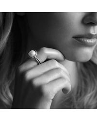 David Yurman - White Cable Pearl Ring - Lyst