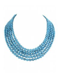Karen Kane | Blue Palm Park Beaded Statement Necklace | Lyst