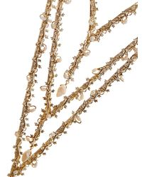 Rosantica By Michela Panero - Metallic Fata Layered Pearl-embellished Necklace - Lyst