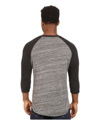 Alternative Apparel | Gray Eco Space Dye Jersey Traveler Baseball T-shirt for Men | Lyst