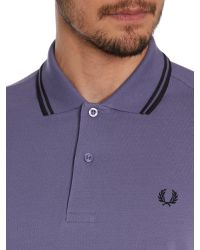 Stussy | Purple Twin Tipped Regular Fit Polo for Men | Lyst