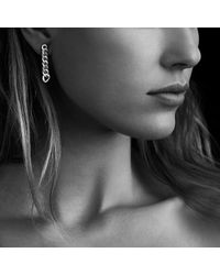 David Yurman - Metallic Petite Pavé Curb Chain Earrings With Diamonds - Lyst