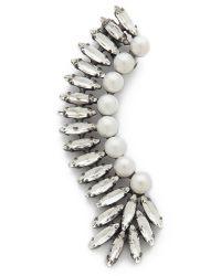 Amber Sceats - Gray Imitation Pearl Ear Crawler - Dark Grey/clear - Lyst