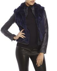 Adrienne Landau - Blue Real Rabbit Fur Open Vest - Lyst