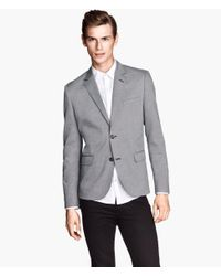 H&M - Gray Marled Jacket for Men - Lyst