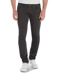 Armani Jeans | Gray J23 Slim Fit Dark Overdye Jean for Men | Lyst