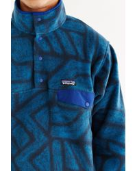 Patagonia - Blue Synchilla Snap-t Fleece Pullover Jacket - Lyst