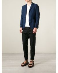 Giorgio Armani - Blue Pique Blazer for Men - Lyst
