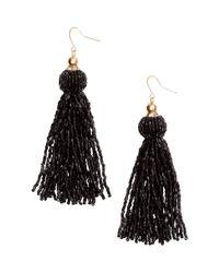 H&M   Black Long Earrings   Lyst