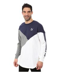 PUMA - White Cut Line Long Sleeve Top for Men - Lyst