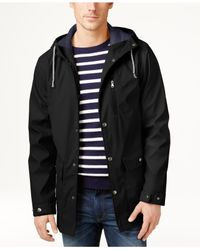 Izod - Black Men's Hooded Boating Jacket for Men - Lyst