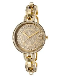 Michael Kors - Metallic Womens Delaney Goldtone Steel and Dial Crystal Accents - Lyst