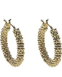 Annoushka - Metallic Alchemy 18ct Yellow-gold Hoop Earrings - Lyst