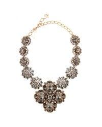 Oscar de la Renta - Metallic Radial Swarovski Crystal Necklace - Lyst