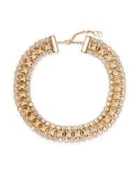 Valentino | Metallic Rockstud Crystal Collar Necklace | Lyst
