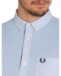 Fred Perry - Blue Plain Slim Fit Polo Shirt for Men - Lyst