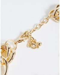 ASOS | Metallic Knot Chain Choker Necklace | Lyst