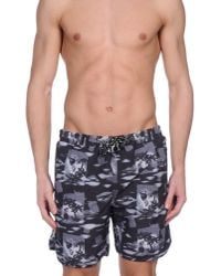 Anerkjendt - Gray Swimming Trunk for Men - Lyst