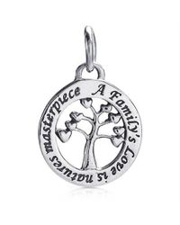Aeravida | Metallic Dainty Masterpiece Family's Love Tree Sterling Silver Pendant Or Charm | Lyst