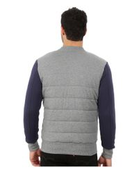 PUMA | Gray Padded Bomber Jacket for Men | Lyst