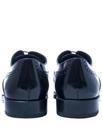 Tod's - Black Gommino Wingtip Patent Leather Brogues - Lyst