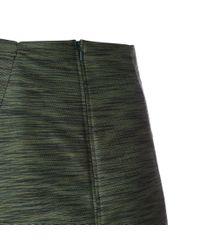 Paul Smith   Women's Green Textured Cotton-blend Skirt   Lyst