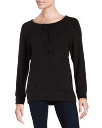 Lord & Taylor | Black Knit Sweatshirt | Lyst